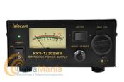 TELECOM RPS-1230-SWM FUENTE DE ALIMENTACION CONMUTADA CON 13,8 V Y 30 AMP. MAX. - Fuente de alimentación conmutada de reducido tamaño con supresor de ruido, con una tensión de salida de 13,8 V y una intensidad de 30 Amp de pico y 20 Amp. continuos, dispone de toma frontal de encendedor y bananas traseras.