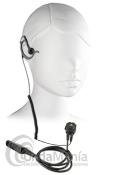 PWR-23-DP2000 PINGANILLO NEGRO AURICULAR INTERCAMBIABLE  PARA MOTOROLA TETRA DP-2400/SERIE 2000/3000 - Micro auricular negro, con orejera intercambiable, clásico y discreto, IP54 Watter Resistant, ergonómico con cable rizado disponible para walky talkys Motorola tipo al DP-2400 o series 2000/3000.