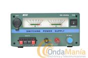 NISSEI NS-1245A FUENTE DE ALIMENTACION CONMUTADA - Fuente de alimentaci�n conmutada 40/45 Amp. con doble instrumento, voltaje ajustable y 45 Amp. max. de intensidad de carga.