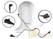 FTN 6707A MICRO AURICULAR PARA MOTOROLA TETRA - Microfono auricular Motorola para MTH-800 y MTP-850 con PTT a dos hilos uno para el micrófono y otro para el auricular totalmente independientes. Ideal para operaciones de vigilancia.