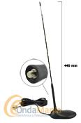 """TORNADO MAGNETICA CB ANTENA PARA 27 MHZ - Antena magnética de fibra de vidrio para banda ciudadana 27 Mhz tipo """"Golf"""" con 44 cm de longitud"""