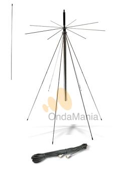 ANTENA DISCONO DIAMOND (ORIGINAL JAPON) D-130 - Antena Discono Diamond (original Japonesa) ideal para escaner con un ancho de banda de 25 a 1300 Mhz en recepci�n y puede transmitir en 50, 144 y 430 Mhz.