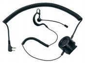 ABM TACTICAL - Micro-auricular con boom ajustable (norma militar)y PTT t�ctico con jack 2 pin a 90�.