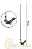 """ALL-RIGHT 2 ANTENA PARA CB CON  MUELLE  - Antena móvil de fibra de vidrio con muelle para 27 Mhz., articulada 180 grados, 77 cm de longitud, base tipo """"N"""" palomilla,..."""