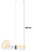 PRESIDENT ALASKA EXPORT ANTENA DE 27 MHZ  - Antena con conector PL y 1480 mm de longitud con una ganancia de 6 dB con una anchura de banda de 26 a 28 MHz y una potencia m�xima de 1000 W P.E.P.