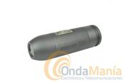 VIDEO CAMARA BULLET HD 720P - Mini videoc�mara deportiva digital de alta definici�n Bullethd 720 PP, sumergible, profundidad 10 metros, acorazada, cuerpo de aluminio, especial submarinismo,12 Megapixels foto, incluye accesorios para casco, 2 bater�as y tarjeta de 4GB, 8 GB o 16 GB a elegir (soporta 32 GB), optica 170�,...