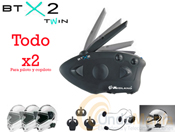 BTX2 TWIN INTERCOM MIDLAND PARA PILOTO Y COPILOTO O MOTO A MOTO + PORTE GRATIS