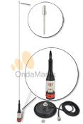 TELECOM CLEAR 140 MAGNETICA - Antena (Radiante: Varilla y Bobina) para 27 Mhz. (CB) de 5/8 transparente con conector PL. esta versión incluye base magnética con conector PL y un diámetro de 15 cm