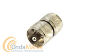 ADAPTADOR DOBLE MACHO PL (UHF DOBLE MACHO) - Adaptador doble macho PL, macho PL a macho PL