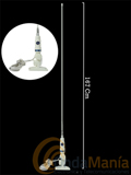 SIRTEL CORAIL 2000 - Antena náutica de sujeción en cubierta con rótulapara banda ciudadana (27 Mhz)