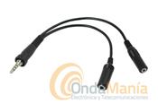 YAESU CT-91 - Adaptador de micr�fono para Yaesu VX-7/VX-6/VX-120/VX-170 a cualquier tipo de micr�fono auricular o micr�fono altavoz tipo standart.