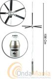 DIAMOND D-303 ORIGINAL JAPON ANTENA PARA RECEPCION - La antena Diamond D303, es una antena de recepci�n de 0.5 a 200 Mhz., con una longitud de 1,56 cm, 0,85 kg de peso y unos radiales con unas longitudesque van de 30 mm a 62 mm.
