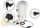 EARBONE-STANDARD - Se termino el llevar micr�fono y auricular. Con el Earbone-Standard y su sensor oido interno recibimos y transmitimos con un solo auricular que tambi�n hace de micr�fono. Esta versi�n es para walkies tipo Yaesu FT-23, FT-411, Alan CT-145, Rexon,...... Puedeser utilizado conlos Yaesu VX-6, VX-7, VX-120, VX-170,... con el adaptador Yaesu CT-91