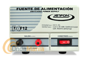 JETFON PC-F12 FUENTE DE ALIMENTACION 10/12 AMP. - Fuente de alimentaci�n DC 13.8V.conmutada, estabilizada y cortocircuitablecon una intensidad de 10 Amp. continuos y 12 Amp. de pico.
