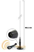 ANTENA MAGNETICA COBRA HG-A1500 PARA CB 27 MHZ - Antena magn�tica para uso enveh�culoscon una cobertura de 26 a 30 Mhz, esta antena tiene una varilla de acero cromado con unalongitud de 965.2 mm y admite una potencia m�xima de 300 W.
