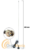 MINI WALK VHF SMA - Antena de � de onda mini magn�tica para la banda de VHF con conector SMA.