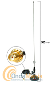 MR-75SJ ANTENA DIAMOND MAGNETICA DOBLE BANDA ORIGINAL CON SMA INVERTIDO - Antena doble banda VHF/UHF (144 MHz y 430 MHz) magn�tica con rotula orientable y conector SMA invertido, ideal para los walkys fabricados en China.