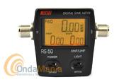 NISSEI RS-50 MEDIDOR DE SWR Y POTENCIA DIGITAL PARA UHF Y VHF+PILAS AAA DE REGALO