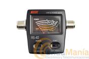 NISSEI RS-40 MEDIDOR DE ROE Y WATIMETRO - Medidor de estacionarias ypotencia de reducido tama�o, ideal para acompa�ar a tu equipo de VHF o doble banda en el coche, casa,...