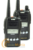 PAREJA DE ALINCO DJ-A446 PMR446 DE USO LIBRE CON RADIO FM