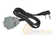 KENWOOD PG-4Y - Kenwood PG-4Y; cable interface para conectarun walkie Kenwood modelo TH-K2, TH-K4, TH-F7, TH-G71,... a un PC (conector D-Sub 9 patillas)