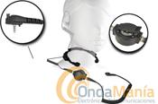 NAUZER PLX-330Y2 SUPER LARINGOFONO CON DOS CAPTORES Y AURICUALR ACUSTICO - Laring�fonoprofesional con dos captores, robusto y gran PLL circular y auricular tubularac�stico transparente compatible con los Yaesu VX-146, VX-246, VX-351, VX-180,...