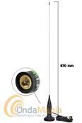 PRESIDENT MONTANA ANTENA MAGNETICA CB - Antena de 27 Mhz para banda ciudadana con base magn�tica y con una longitud de 870 mm y 3 dBi de ganancia