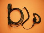 TELECOM PY-29AR - Micro auricular ergonómico con cable rizado de color negro disponible para walky talkys Yaesu, Alan, Kombix, Alinco, etc.