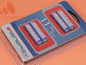 PACK DE 4 BATERIAS RECARGABLES RENERGY TIPO AAA (LR-03) - Pack de 4 baterías AAA (LR-03) con 1,2 V. y 1100 mAh. de capacidad.