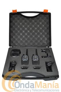 MIDLAND G 7E XTR VALIBOX - Pack Valibox compuesto por dos Midland G7 con un funcional maletín resistente a golpes junto con un cargador doble de sobremesa , dos baterías y dos pinganillos Midland MA-24L. Y sin gastos de envío.