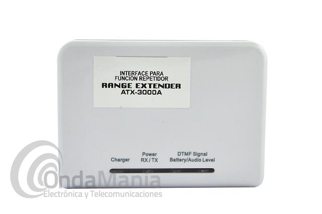 RANGE EXTENDER ATX-3000A INTERFACE PARA FUNCION REPETIDOR TIPO LORO - El Range Extender ATX-3000 es un simple interface para función repetidor, lo que comúnmente se denomina