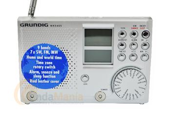GRUNDIG WR 5405 RADIO MULTIBANDA DIGITAL - Receptor multibanda con AM, FM y 7 bandas para Onda Corta (de 3,90 a 21,85 Mhz), dispone de función AFC (control automático de frecuencia) en FM, altavoz integrado, reloj, toma de auriculares, incluye funda de piel,...