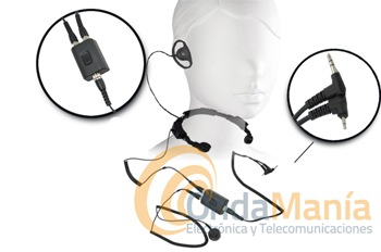 AE-38 S2A LARINGOFONO PROFESIONAL DOBLE CON AURICULAR Y DOBLE PTT - AE38 S2A Laringófono doble con auricular de alta calidad, el laringófono incluye dos PTT y es para walki-talkys Midland, Icom y Yaesu (tipo FT-23),...