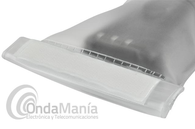 FUNDA ESTANCA TRANSPARENTE PARA WALKY TALKYS - Funda estanca transparente para walki talkys