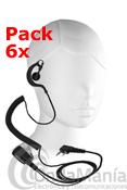 PACK DE 6 PINGANILLOS TIPO PY-29 - Pack de 6 micrófono auriculares (pinganillos) ergonómicos con cable rizado para poder usarlos en la gran mayoria de los portátiles del mercado.
