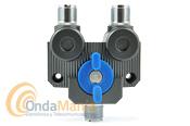 CONMUTADOR D-ORIGINAL AV-SW2M DE DOS POSICIONES - El AV-SW2M es un conmutador coaxial con conectores PL, dispone de 1 entrada y dos salidas, con un rango de frecuencia de hasta 1 Ghz., con una potencia máxima de 2KW en 30 Mhz. y una impedancia de 50 Ohm.