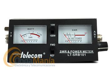 TELECOM DF-2461 MEDIDOR DE ROE Y WATÍMETRO PARA CB CON DOBLE INSTRUMENTO