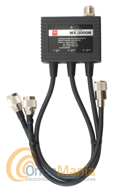 TRIPLEXOR CON CABLES DIAMOND MX-3000N