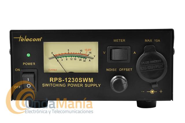 TELECOM RPS-1230-SWM FUENTE DE ALIMENTACION CONMUTADA CON 13,8 V Y 30 AMP. MAX.