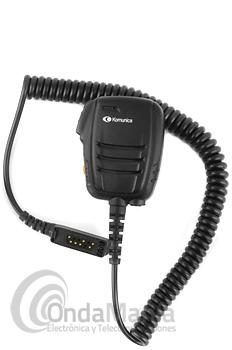 KOMUNICA  POWER PWR-7200E-STP8000 MICROFONO ALTAVOZ IP-55 COMPATIBLE CON SEPURA - Micrófono altavoz Komunica Power PWR-7200E-STP8000 incluye botón de emergencia, resistente al agua norma IP-55 y compatible con los Sepura de las series 8000 y 9000 como los STP-8000, STP-8100, STP-8200, STP-9000, STP-9100, STP-9200,...