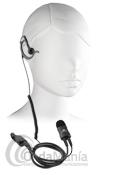 KOMUNICA PWR-2400-DP2000 MICRO-AURICULAR NOISE CANCELING PARA MOTOROLA TETRA DP-2400  - Micrófono auricular (pinganillo) profesional con norma IP54 con auricular intercambiable negro y con cable rizado y soporte para la oreja, el micrófono dispone cancelación de ruido. Compatible con: Motorola tipo al DP-2400 o series 2000/3000.