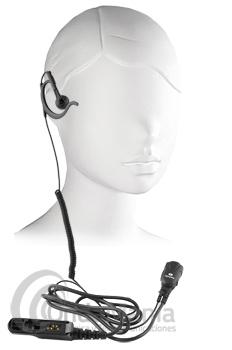 PWR-PRO-DP2000 MICRO-AURICULAR NEGRO CON OREJERA PARA MOTOROLA TETRA DP-2400 Y SERIE 2000/3000 - Micro auricular negro, con orejera, clásico y discreto, ergonómico con cable rizado disponible para walky talkys Motorola tipo al DP-2400 o series 2000/3000.