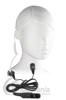 PWR-TUB-DP2000-EH MICRO-AURICULAR ACUSTICO CON OREJERA PARA MOTOROLA TETRA DP-2400 Y SERIE 2000/3000 - Micro auricular tubular, clásico y discreto, ergonómico con cable rizado transparente con orejera disponible para walky talkys Motorola tipo al DP-2400 o series 2000/3000.