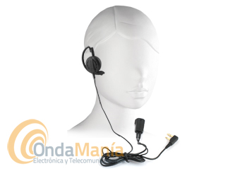 KENWOOD EMC-12 MICROFONO DE SOLAPA CON AURICULAR - Micrófono de solapa con PTT con auricular con gancho de sujección a la oreja compatible con Kenwood, Dynascan, Baofeng, Wouxun, Midland,...