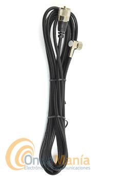 CABLE RG-58 CON 4,5 MTS, CONECTORES PL Y N (TIPO PIPA) PARA BASE - Cable RG-58 con una longitud de 4,5 mts aprox. y con dos conectores en su extremo un PL y un conector tipo