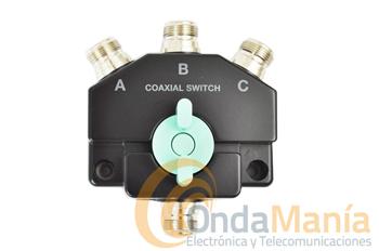 CO-301N CONMUTADOR DE ANTENA DE 3 POSICIONES CON CONECTORES N - Conmutador coaxial de 3 posiciones y baja perdidacon conectores N