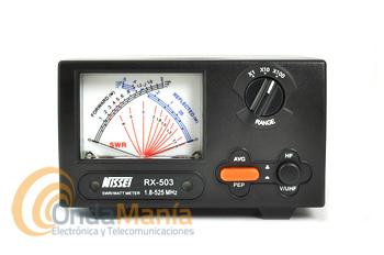NISSEI RX-503 MEDIDOR DE ROE Y VATIMETRO 1,8 - 525 MHZ - Medidor de RF de ondas estacionarias y vatímetro de agujas cruzadas de gran precisión para medidas de potencia directa, potencia reflejada y relación de ondas estacionarias