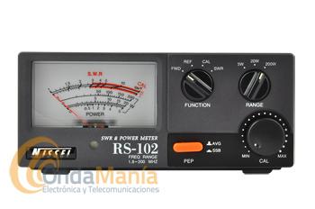 NISSEI RS-102 MEDIDOR DE ONDAS ESTACIONARIAS SWR Y VATIMETRO - En Nissei RS-102 es un medidor de estacionarias y vatímetro de gran fiabilidad para medidas de potencia directa, potencia reflejada y relación de ondas estacionarias