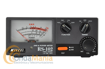 NISSEI RS-102 MEDIDOR DE ONDAS ESTACIONARIAS SWR Y VATIMETRO