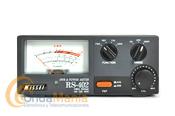"""NISSEI RS-402 MEDIDOR DE ROE Y VATIMETRO 125 - 525 MHZ - Medidor de ondas estacionarias """"SWR"""" y vatimetro es un medidor de gran fiabilidad para medidas de potencia directa, potencia reflejada y relación de ondas estacionarias """"VSWR"""""""
